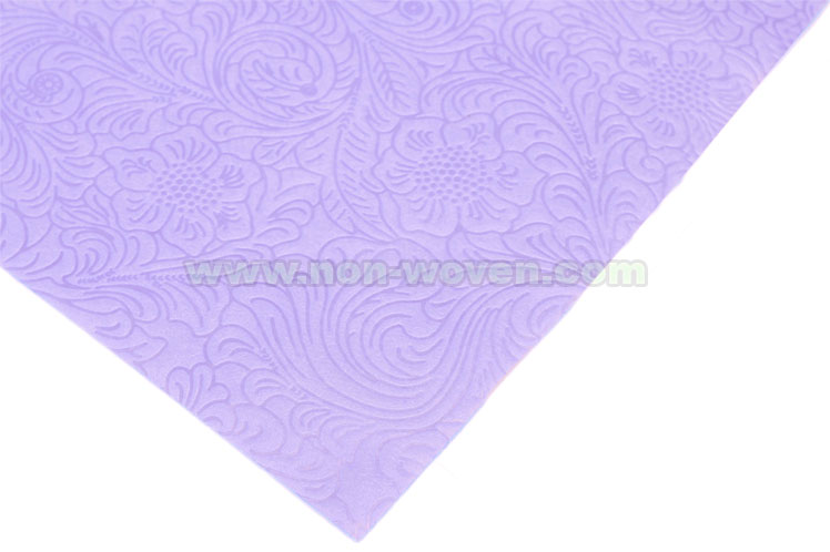 Flower Emboss Wrapping Paper No 31 L Purple Non Woven Fabric