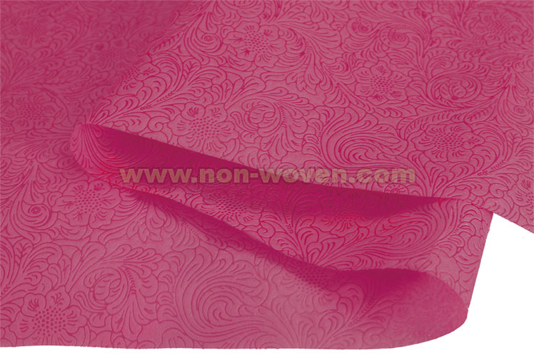 Flower Emboss Gift Wrapping Paper No 34 Maroon Non Woven Fabric